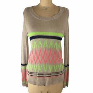 Foreign Exchange Neon Detail Light Sweater